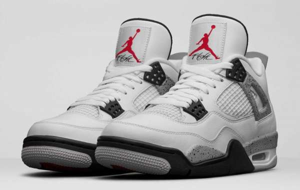 New Release Air Jordan 4 White Cement
