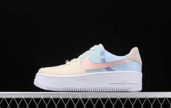 Buy Cheap Nike Air Force 1 Sage Low Beige Pale Blue Pink