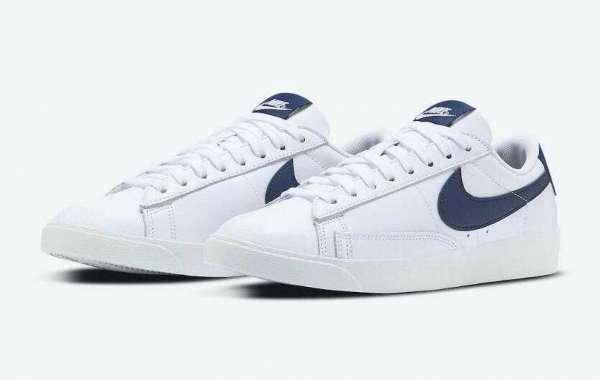 Release New Nike Blazer Low White Midnight Navy for Womens