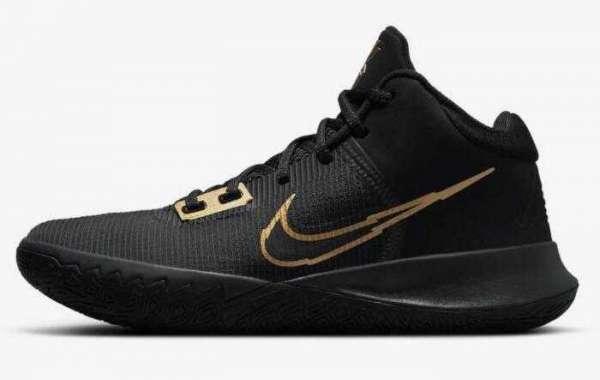 New Stylish Nike Kyrie Flytrap 4 Black Anthracite Metallic Gold